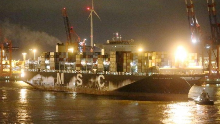 Fire broke out in a container containing charcoal on board MSC Katrina