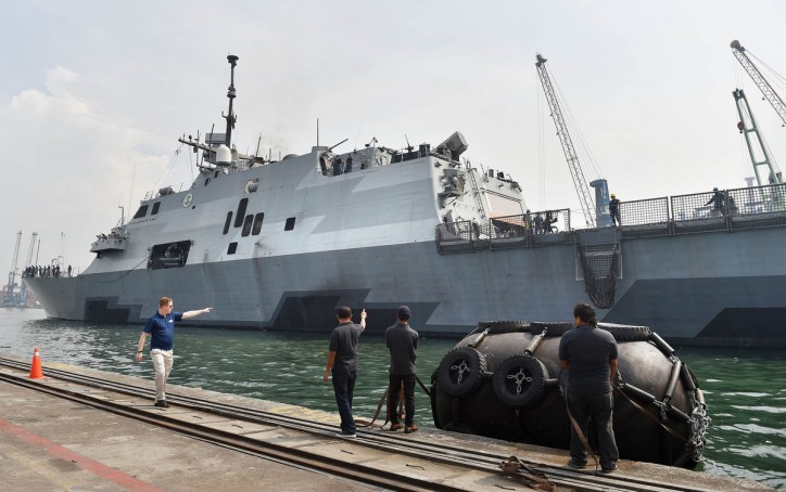 US Navy Littoral Ship Sidelined in Singapore After Gear Damage