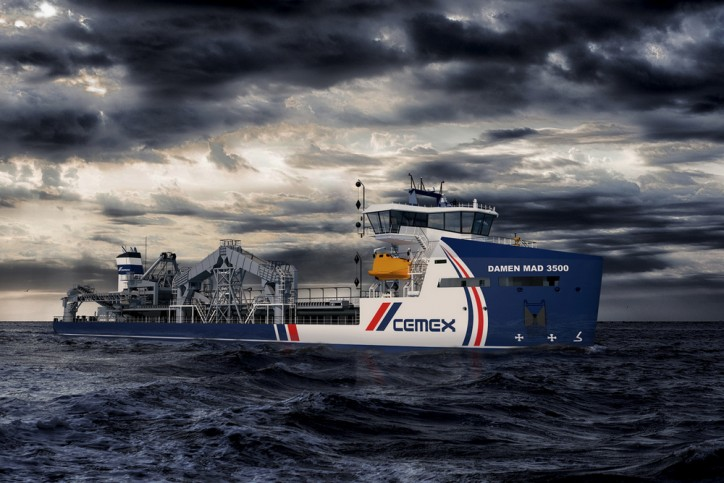 CEMEX UK Marine Limited signs contract with Damen for first Marine Aggregate Dredger (MAD) 3500