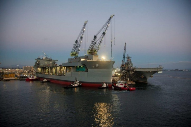 "Spotted: A successful float-out for USNS Hershel ""Woody"" Williams"