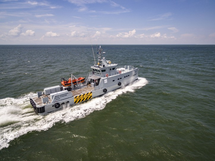 Homeland takes delivery of Damen 3307 Patrol Vessel 'Guardian 3'