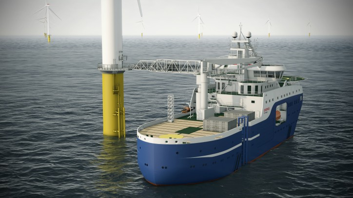 ABB's Onboard DC Grid enables integration of energy storage on specialized hybrid wind farm vessel