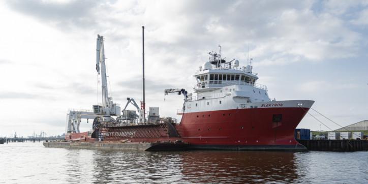 Mobilisation and demobilisation of MV Elektron in Delfzijl