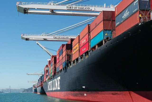 Port of Oakland March cargo volume took a post-holiday dip