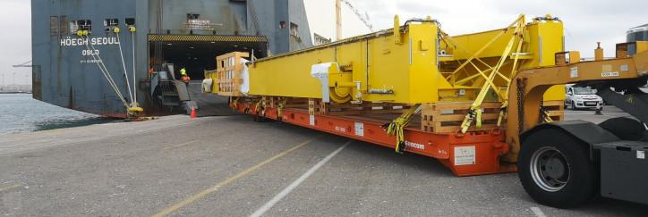 How Höegh Autoliners loaded a record long breakbulk unit in Valencia