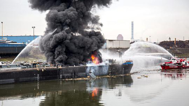 Tanker ship explosion kills two in western Germany