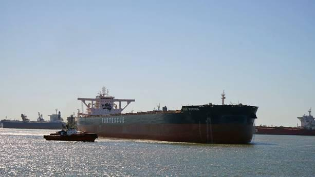 FMG Sophia makes maiden voyage into Port Hedland