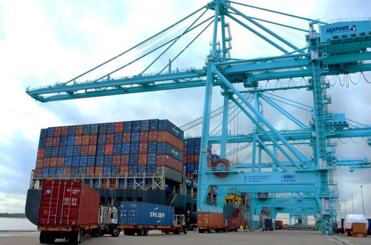 JAXPORT's February container volumes up 25 percent