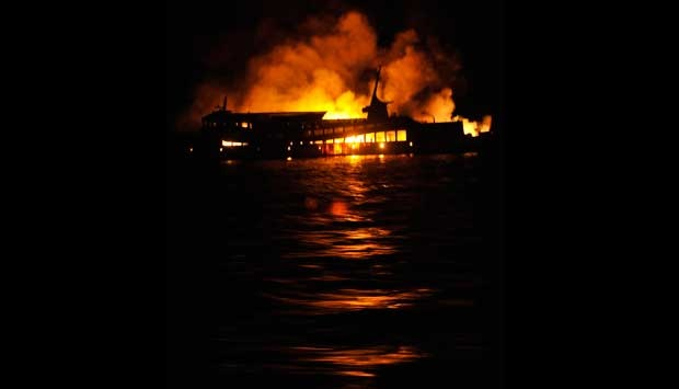 Ferry Gelis Rauh on fire