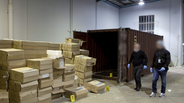 It was Victoria's biggest drug haul of the year.  Read more: http://www.theage.com.au/victoria/eight-held-after-afp-find-275mworth-of-ice-under-shipping-container-floorboards-20160704-gpxzcs.html#ixzz4DW3Daurv  Follow us: @theage on Twitter | theageAustralia on Facebook
