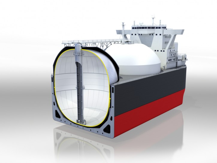 DNV GL awards Kawasaki Heavy Industries AiP for new non-spherical (MOSS) LNG tank