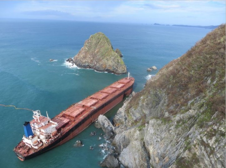 Oil still leaking from grounded ship in Mexico