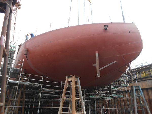 Steady progress on the Yno 309 shipbuilding project.