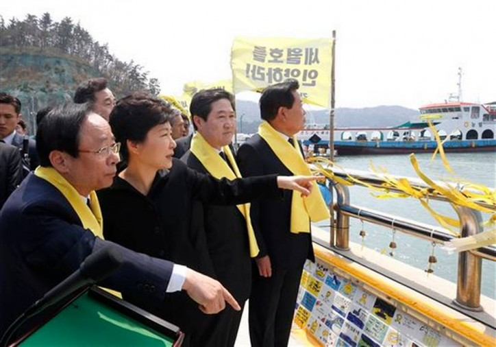 South Korean president's vow to salvage sunken ferry Sewol snubbed by victims' relatives