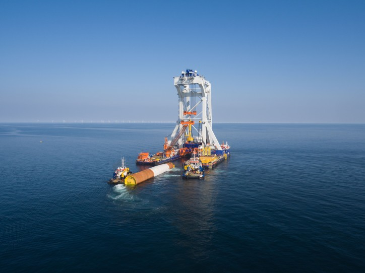 Van Oord's heavy lift installation vessel Svanen completes its work on the Arkona offshore wind project