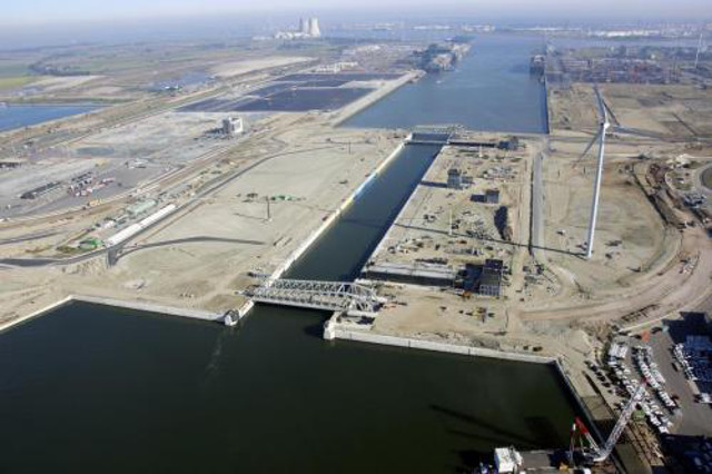 Inauguration of the Kieldrecht lock in Antwerp Port, Belgium