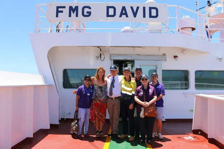 Fortescue celebrates arrival of 'FMG David'