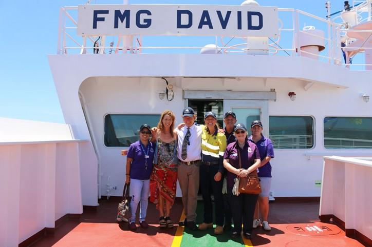 Fortescue celebrates arrival of 'FMG David'