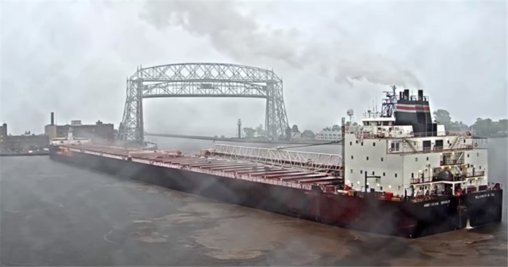 U.S. Coast Guard monitors grounded vessel in Duluth Harbor (Video)