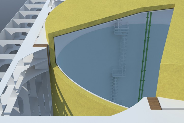 A cross section of the VARD new LNG tank design