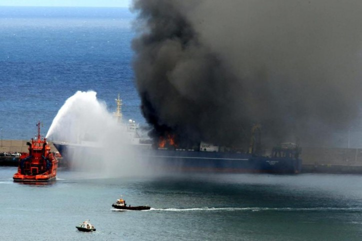 ship accidents oleg naydenov on fire