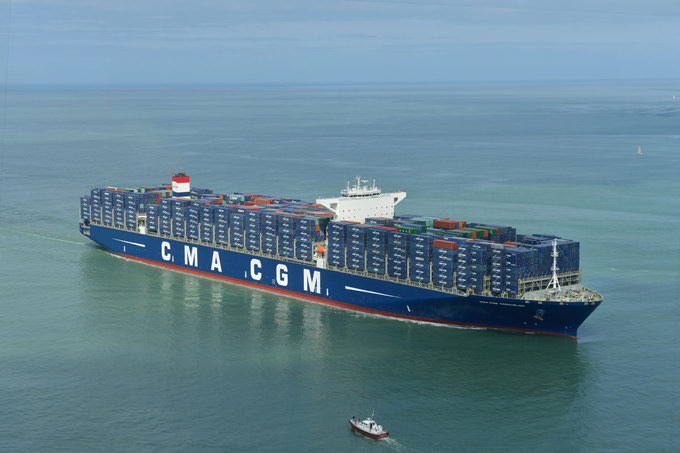 CMA CGM Kerguelen Christened at Haropa, Le Havre