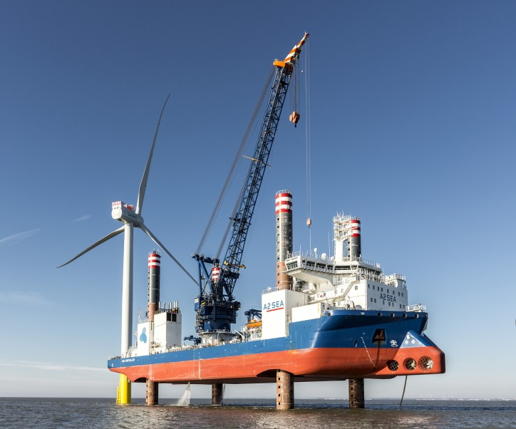 A2SEA's Sea Installer Completed Turbine Installation At Burbo Bank Extension