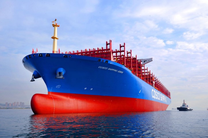 20,000 TEU Container ship COSCO SHIPPING Gemini Named and Delivered
