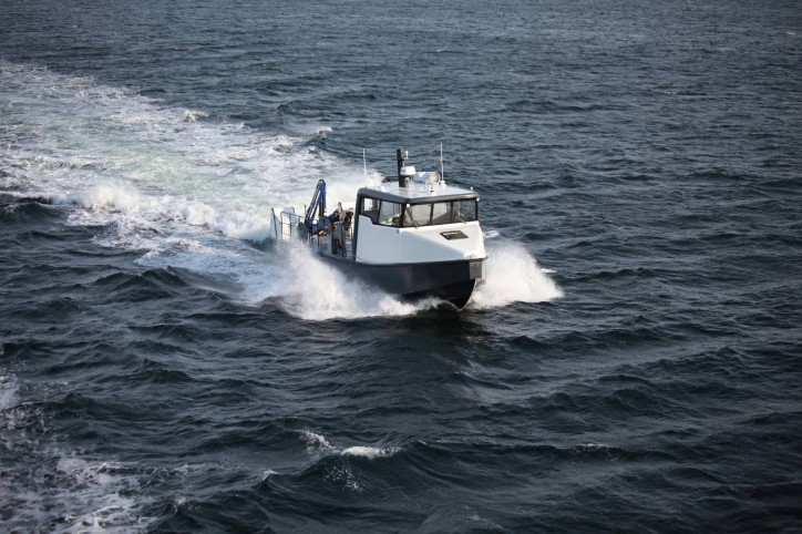 Tuco Marine delivers newly developed high-pressure cleaning boat for fish farm operations in Norway