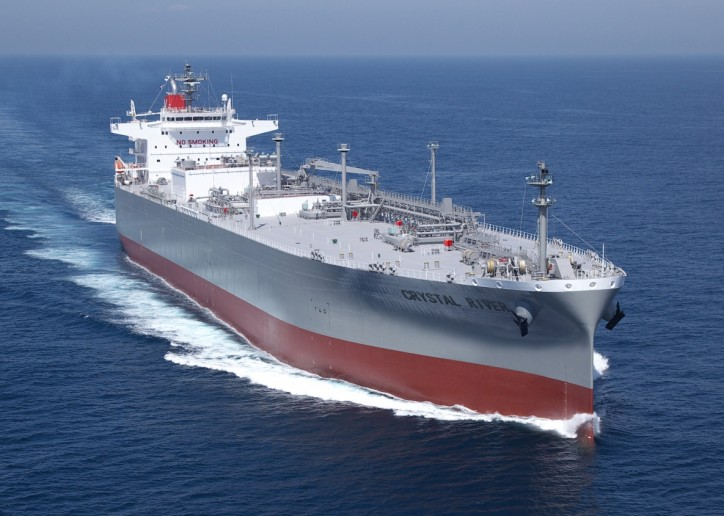 K Line holds naming ceremony for new-built LPG carrier for Astomos Energy Corporation