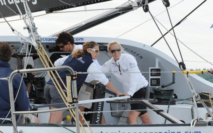 2010: Zara Phillips takes part in the Round the Island Race