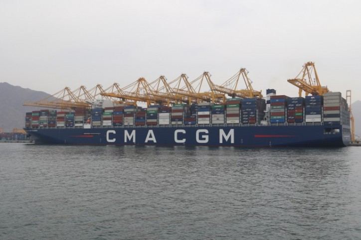 Gulftainer-operated KCT welcomes CMA CGM Antoine De Saint Exupery, one of the largest containerships in the world