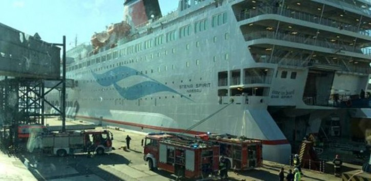 Fire on Stena Spirit's car deck