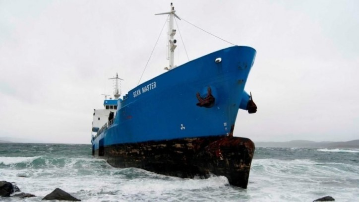 Scan Master aground in Snillfjord, Norway