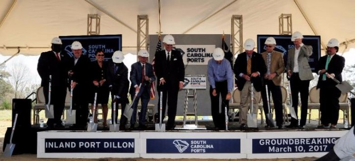 South Carolina Ports Breaks Ground on Inland Port Dillon