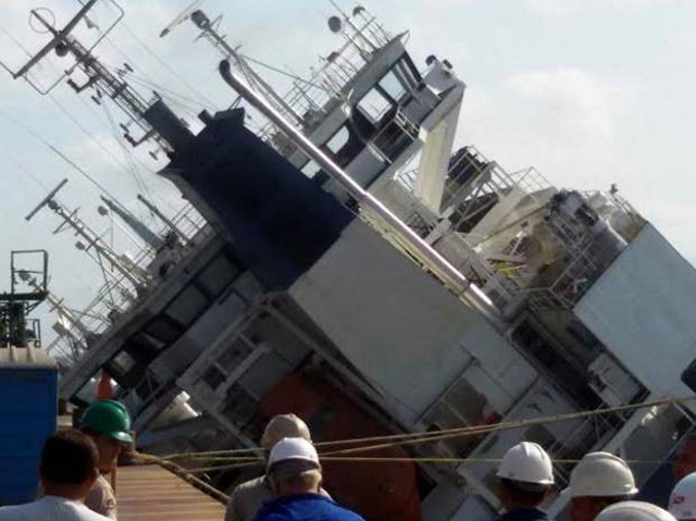 Livestock carrier capsizes in Brazilian port leaving cattle stranded