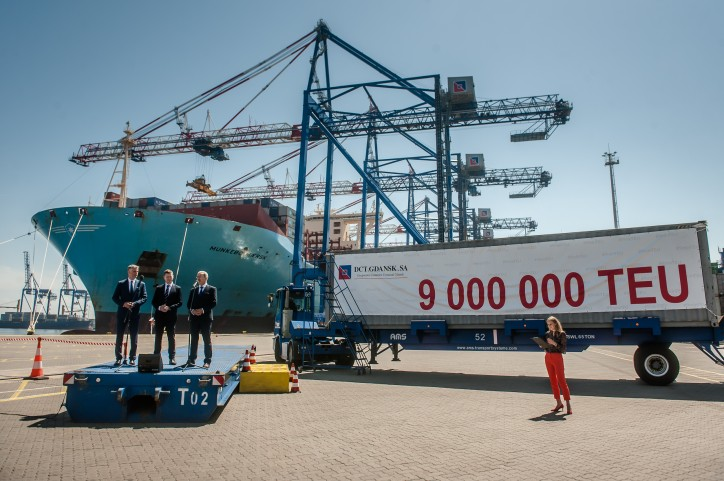 Handling the 9th Million container in DCT Gdansk
