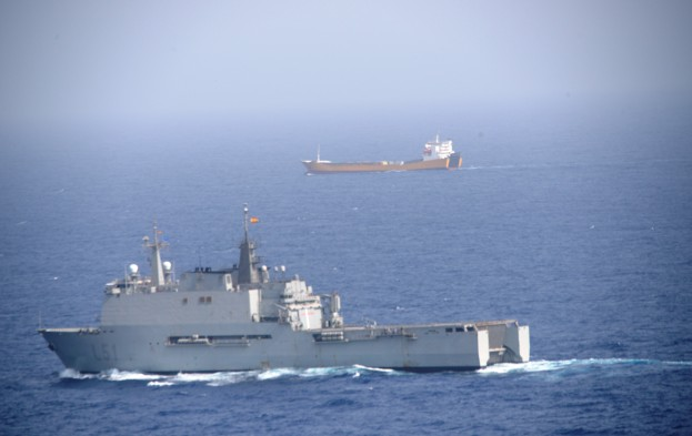 EU Naval Force flagship, ESPS Galicia, whilst conducting counter-piracy patrols in the region responded to a mayday call from the Italian merchant ship