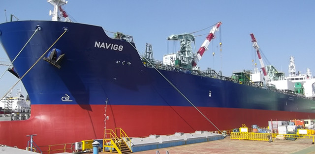 Navig8 Chemical Tankers takes delivery of its first 49,000 dwt IMO2 Interline-coated Chemical tanker from STX