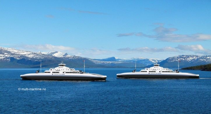 Two LNG powered ferries of MM design to be built by Vard