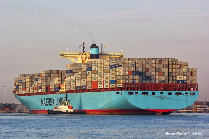 Eleonora Maersk (IMO number 9321500 and MMSI 220477000)