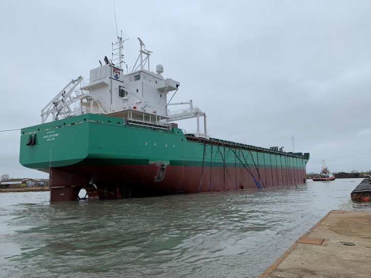 Arklow Wind successfully launched at the Ferus Smit yard in Leer (Video)