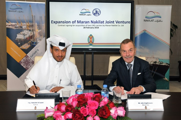 Nakilat expands joint venture partnership with Maran Ventures Inc.