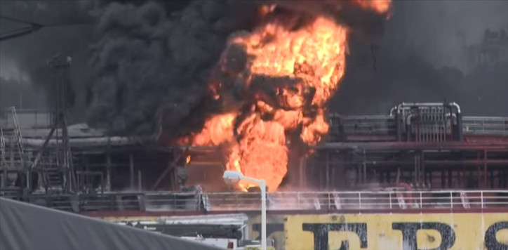 Tanker Stolt Groenland Hit by Explosion in Port of Ulsan (Video)