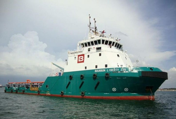 BOURBON LIBERTY 251 attacked off Brass,Nigeria; Two crew including Master hijacked