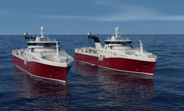 Kleven books order for two Rolls-Royce design stern trawlers