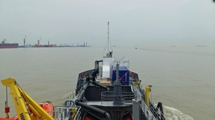 First Damen dredger for Australia TSHD 650 en route to Gippsland Ports