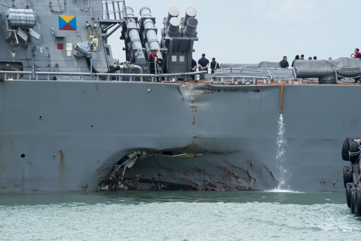 U.S. Navy Commemorates the USS McCain Collision