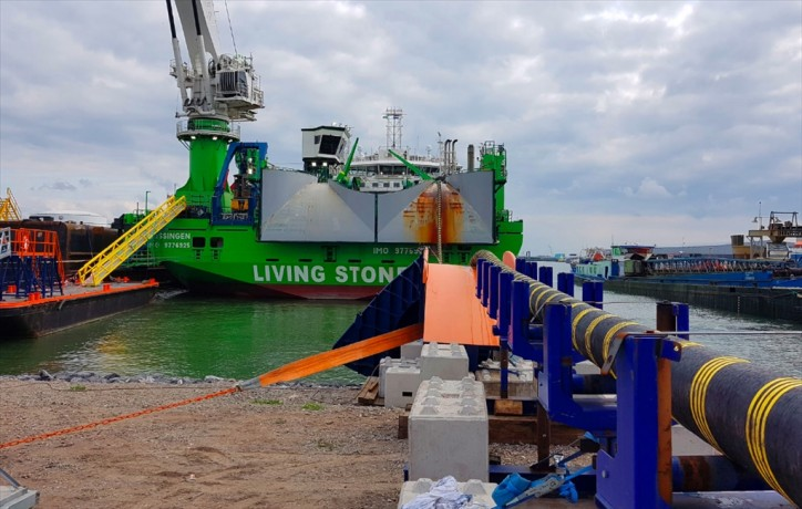 Swan Hunter completes Modular Offshore Grid Cable Storage Load-in