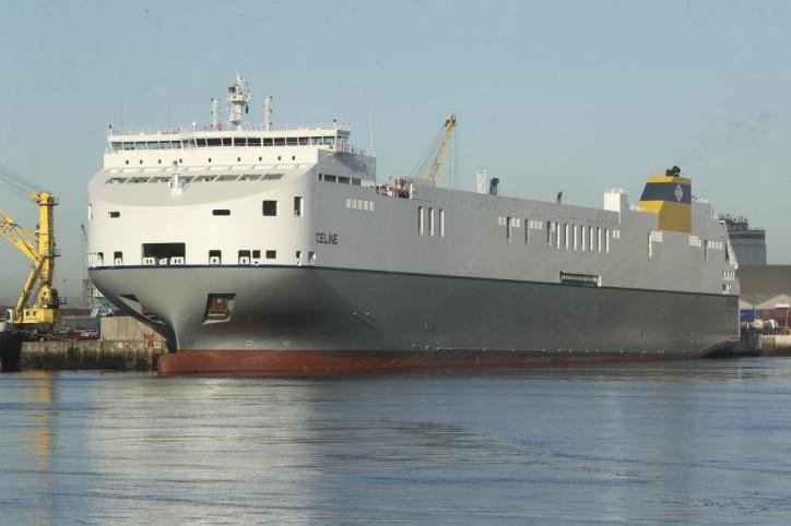 World's largest short sea Ro-Ro vessel mv Celine christened at Dublin Port (Video)